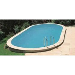 Bâche à bulles piscine hors-sol ovale 180 microns