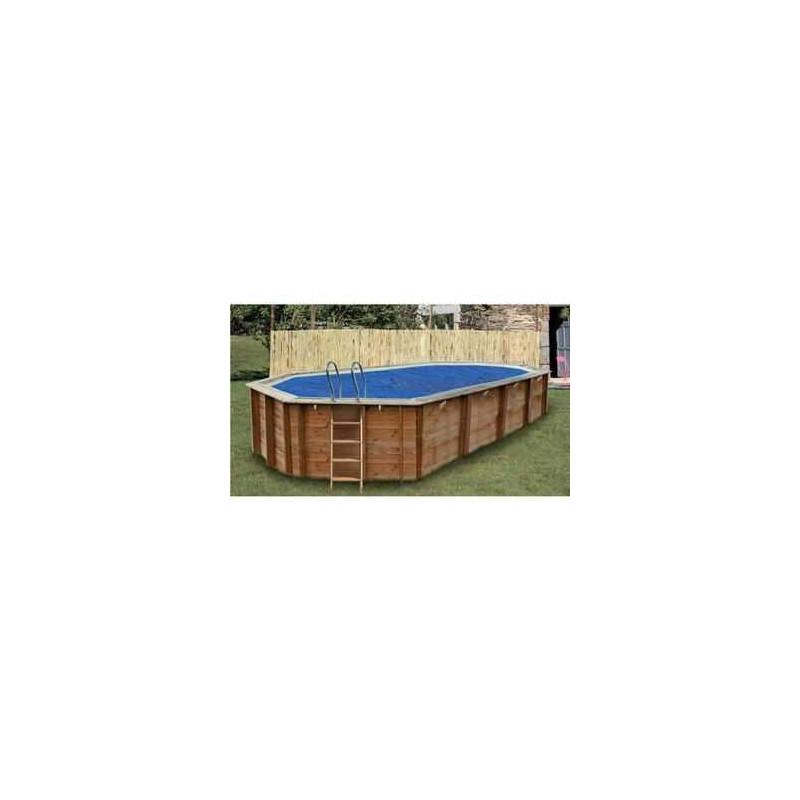 Bâche à bulles sur mesure pour piscine bois