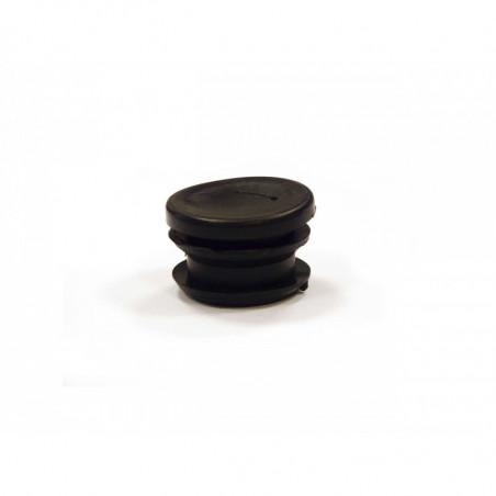 Bouchon tube rond noir