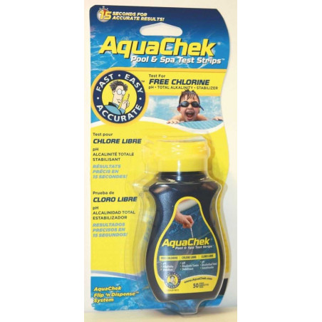 Testeur Aquacheck jaune 4 en 1 (chlore)