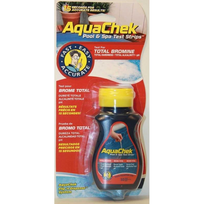 Testeur Aquacheck rouge 4 en 1 (brome)