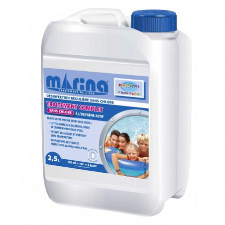 Traitement complet l 39 oxyg ne actif 2 5l marina c piscine - Traitement piscine a l oxygene actif ...