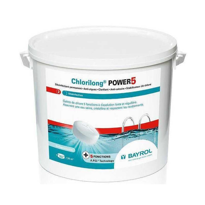 Chlorilong Power 5 Bayrol 5/10kg ( anciennement chlorilong 5 functions)
