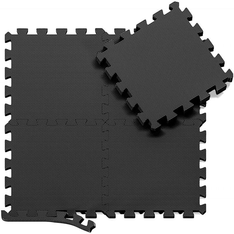 Tapis de sol Puzzle gris foncé 50 x 50cm, épaisseur 1,5cm (4 dalles)