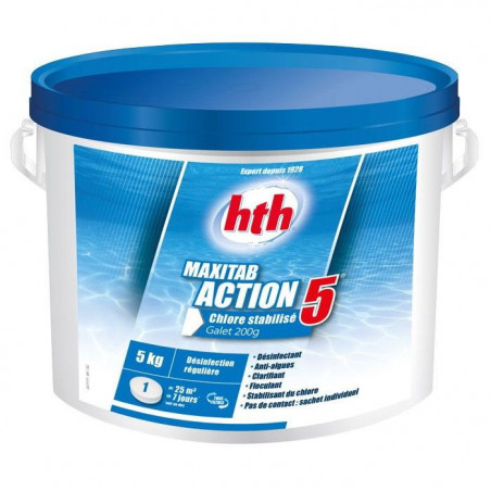 HTH Maxitab action 5 chlore lent multiactions