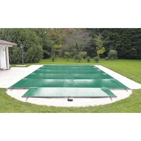 Bâche à barres sur mesure piscine enterrée