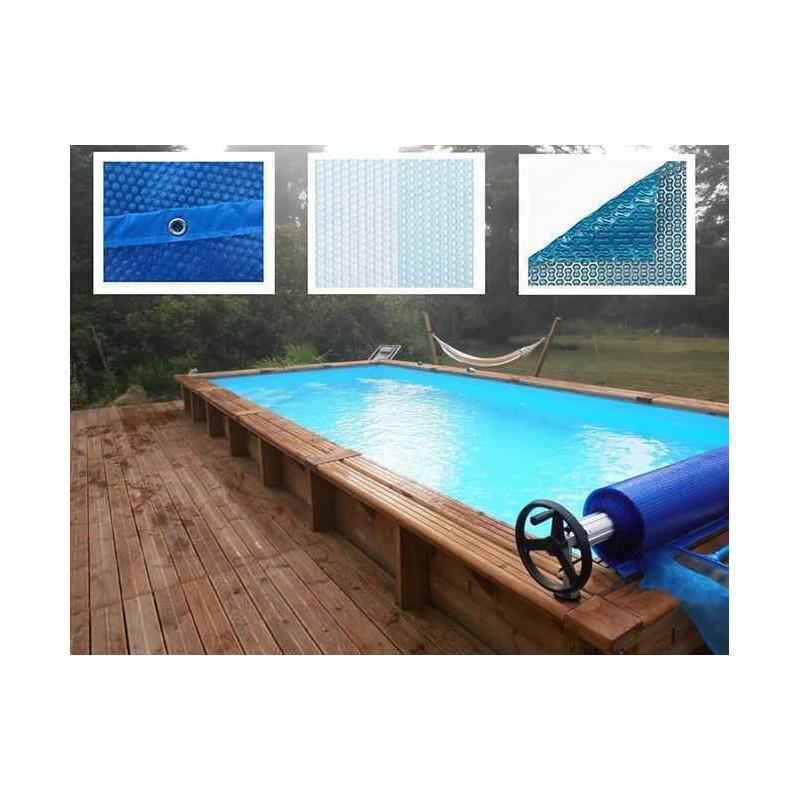 Bâche à Bulles compatible piscine Ubbink Octogonale allongée