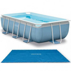 Bâche à bulles Intex pour piscine rectangulaire Tubulaire Prism Frame