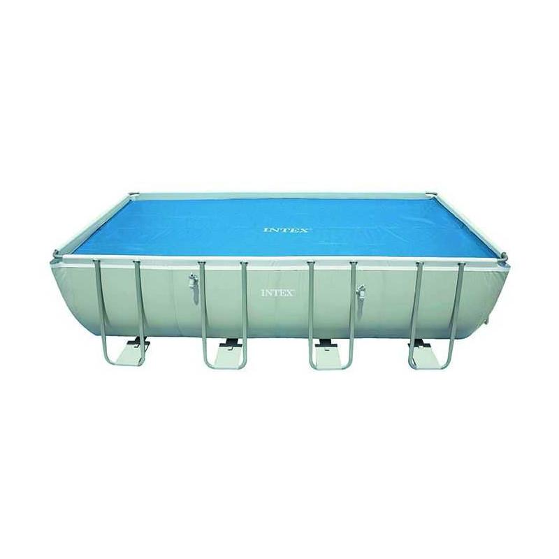 Bâche à bulles Intex pour piscine rectangulaire Tubulaire Ultra Silver