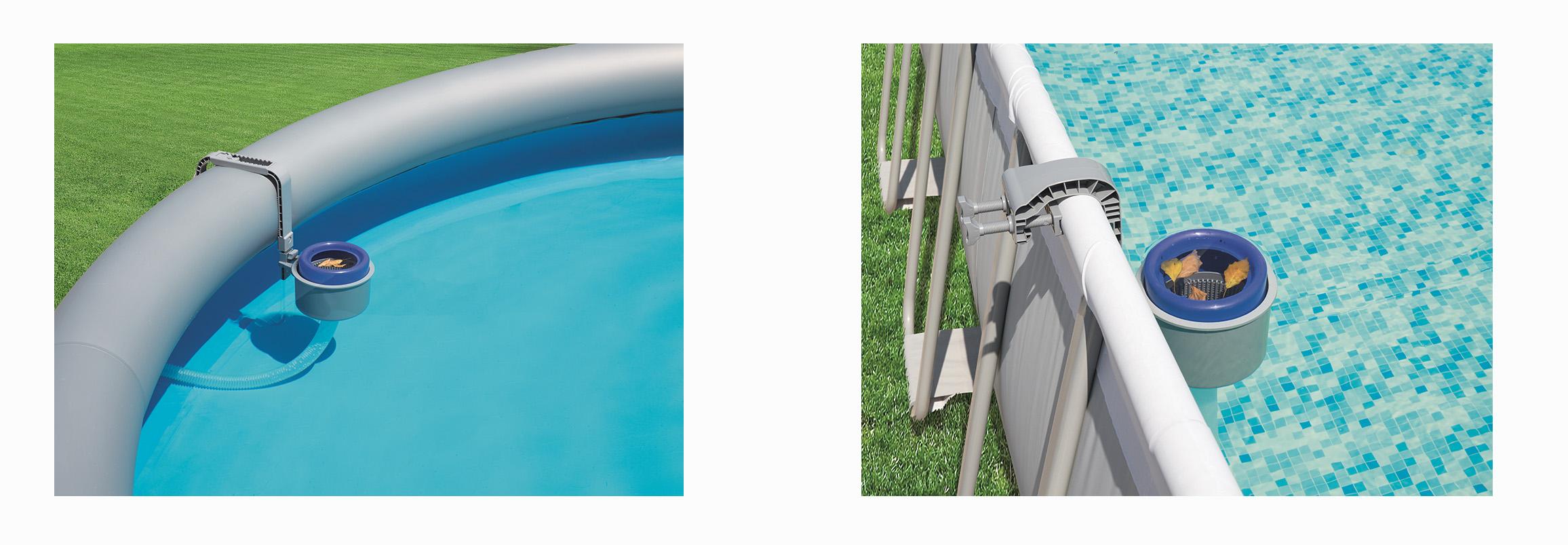 skimmer de surface bestway pour piscine tubulaire ou autoportante