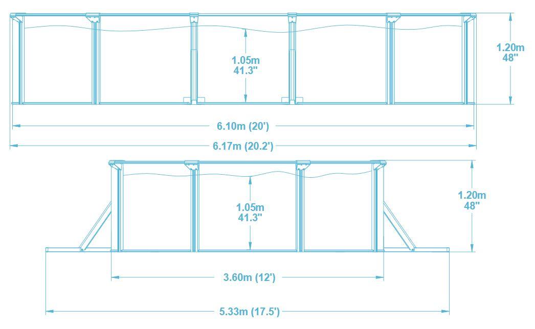 piscine hydrium 610 x 360 x 120m