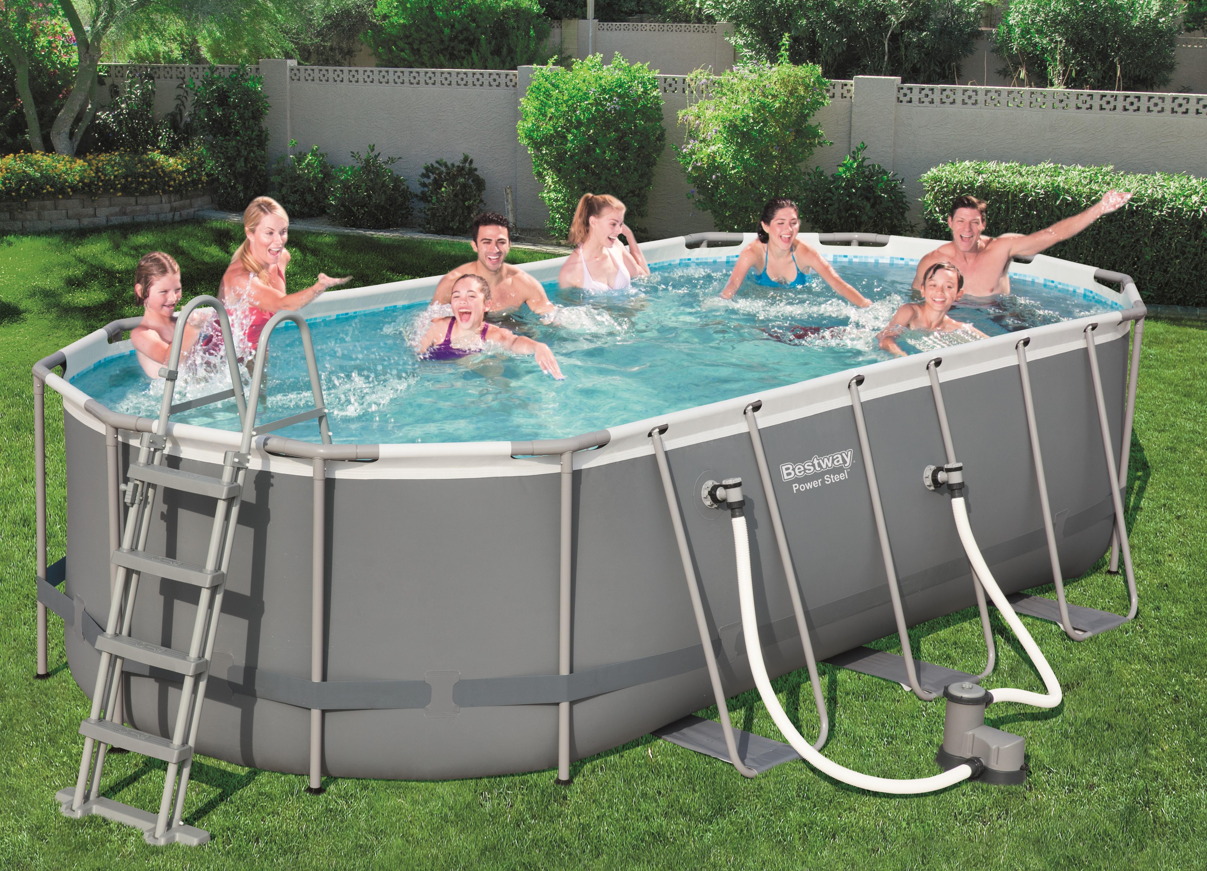 piscine ovale tubulaire 488 x 305 x 107
