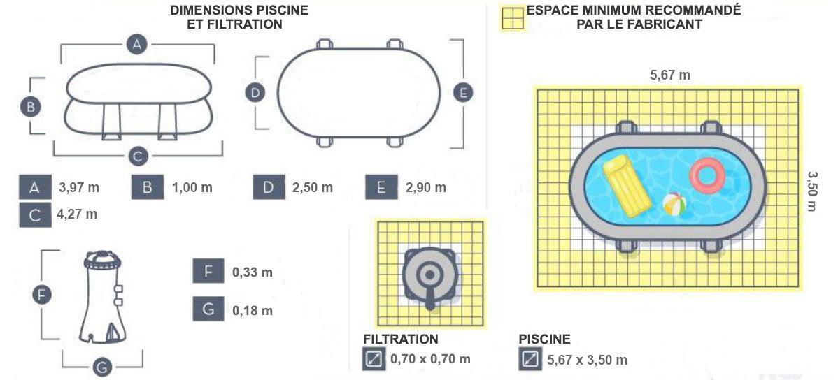 piscine tubulaire ovale bestway 427 x 250 x 100cm