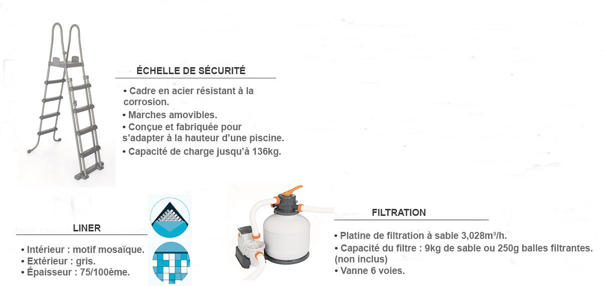 équipements piscine rectangulaire power steel 4,12 x 2,01 x 1,22m