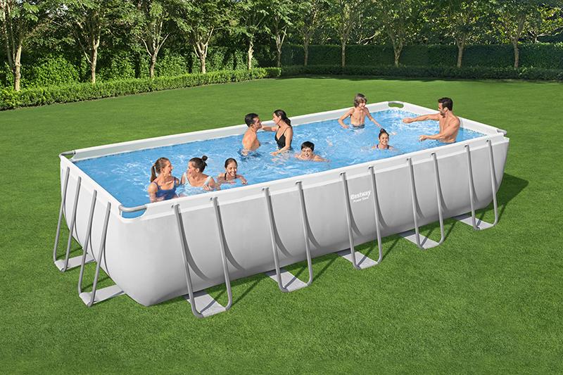 piscine tubulaire rectangulaire power steel 6.40 x 2.74 x 1.32m