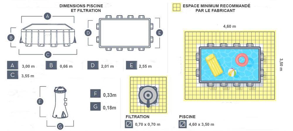 dimensions piscine steel pro 3.00 x 2.01 x 0.66cm