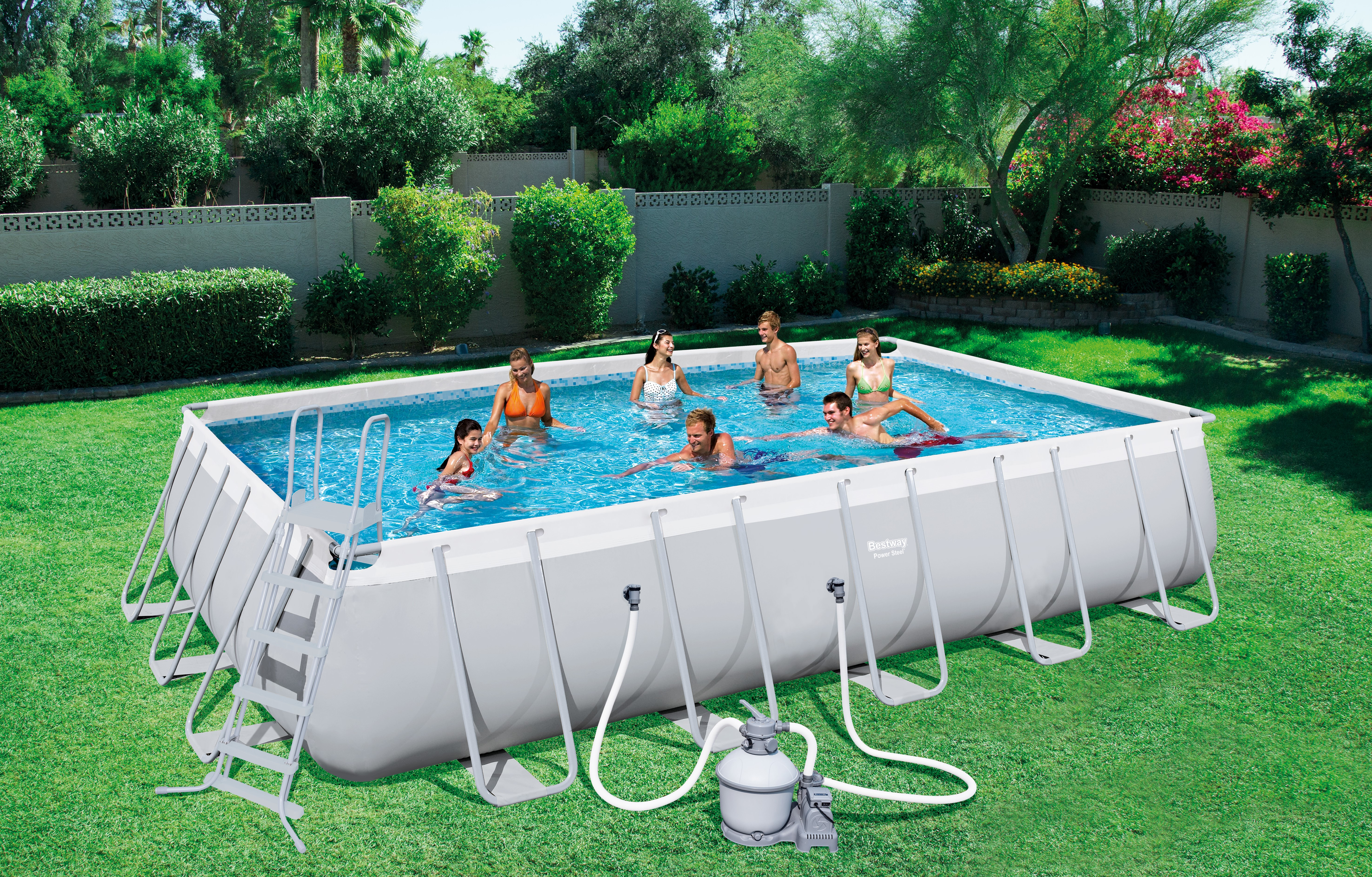piscine rectangulaire tubulaire bestway 671 x 366 x 132