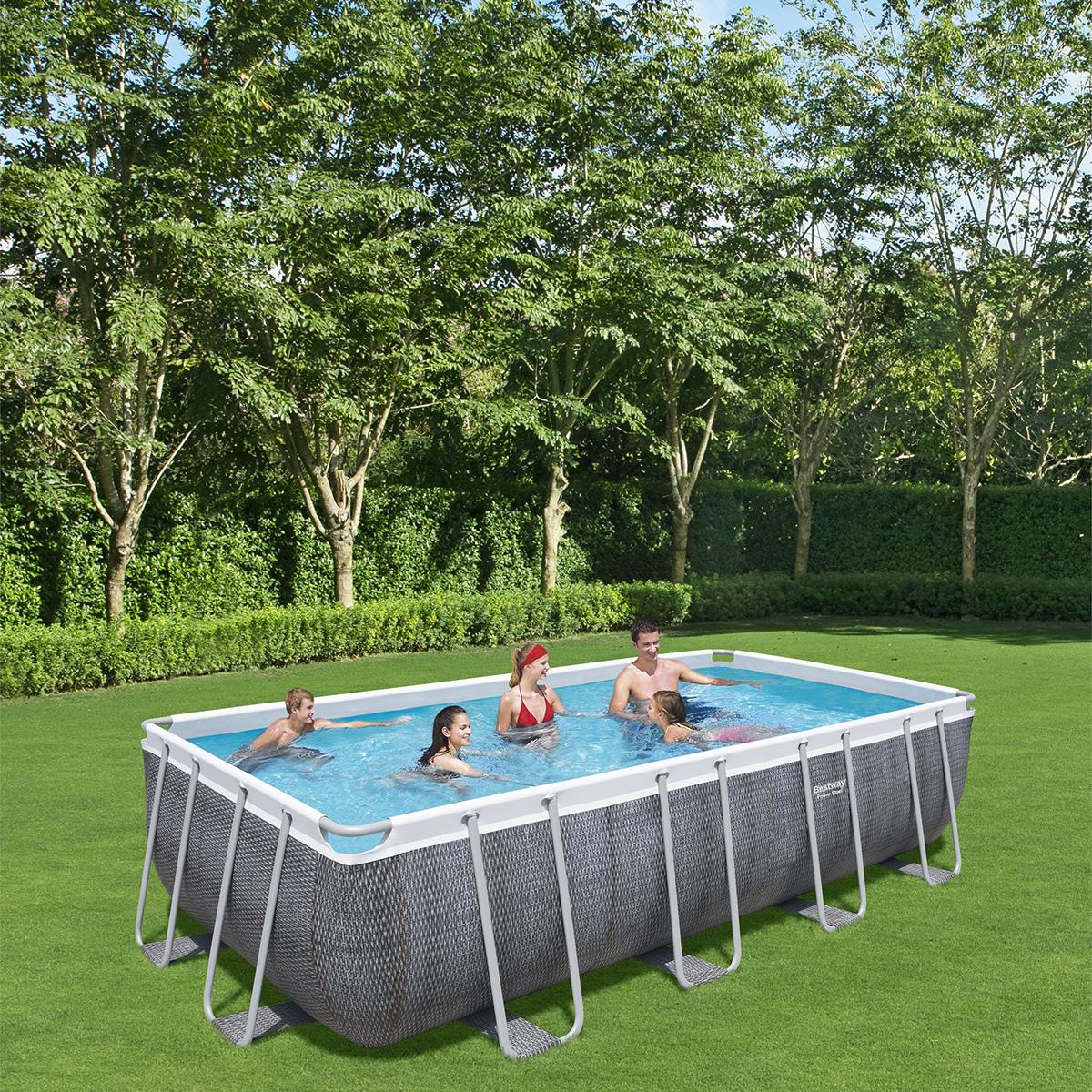 piscine tubulaire rectangulaire power steel 5,49 x 2,74 x 1,22m