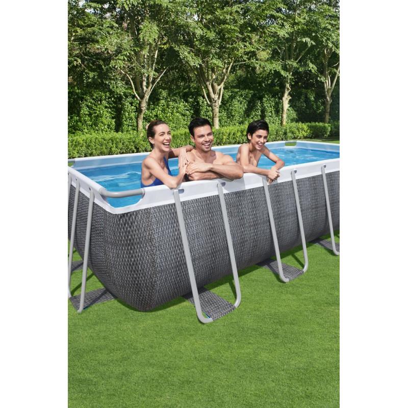 piscine bestway power steel 488 x 244 x 122 rotin gris
