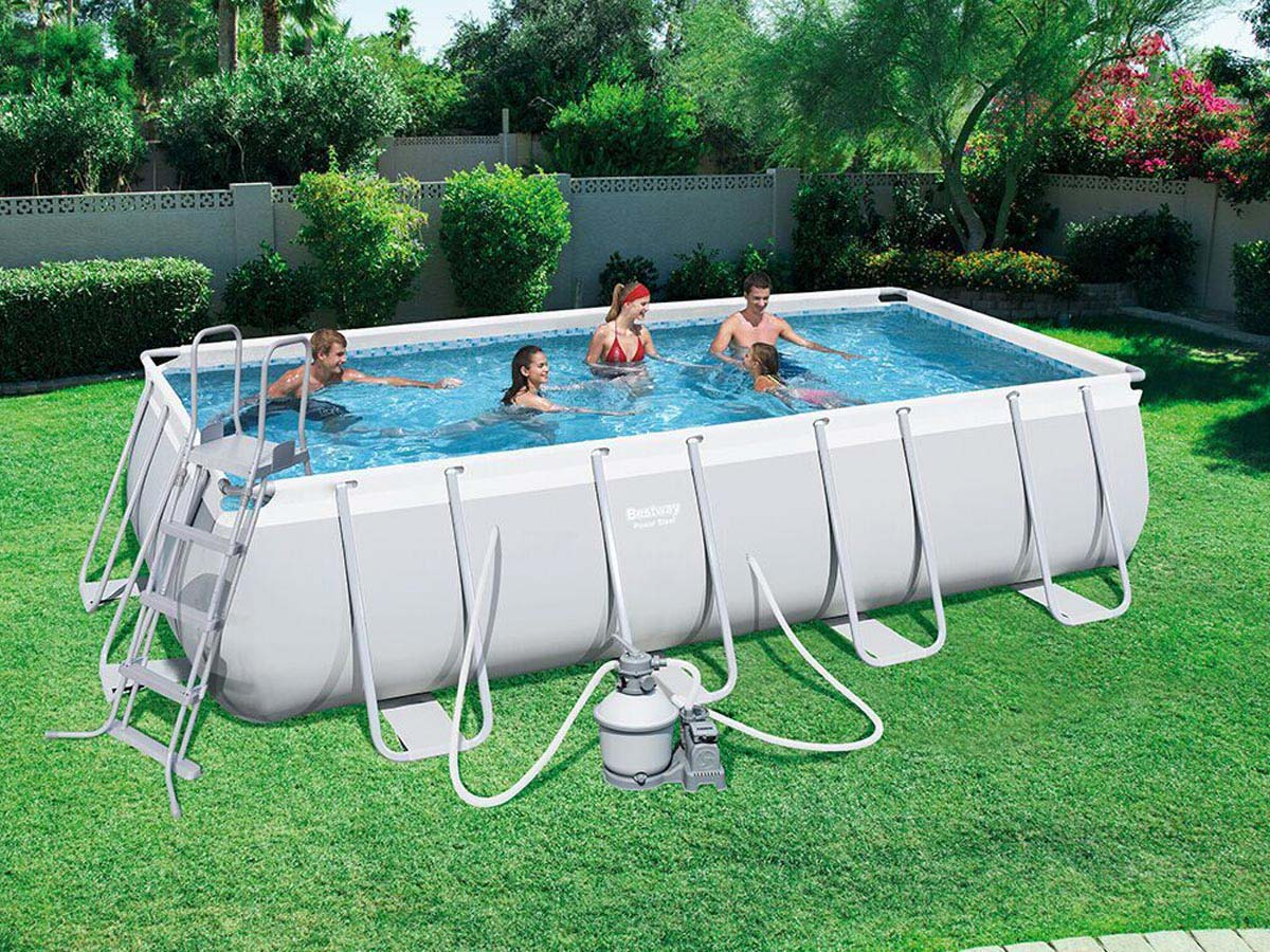 piscine tubulaire rectangulaire power steel 4,88 x 2,44 x 1,22m