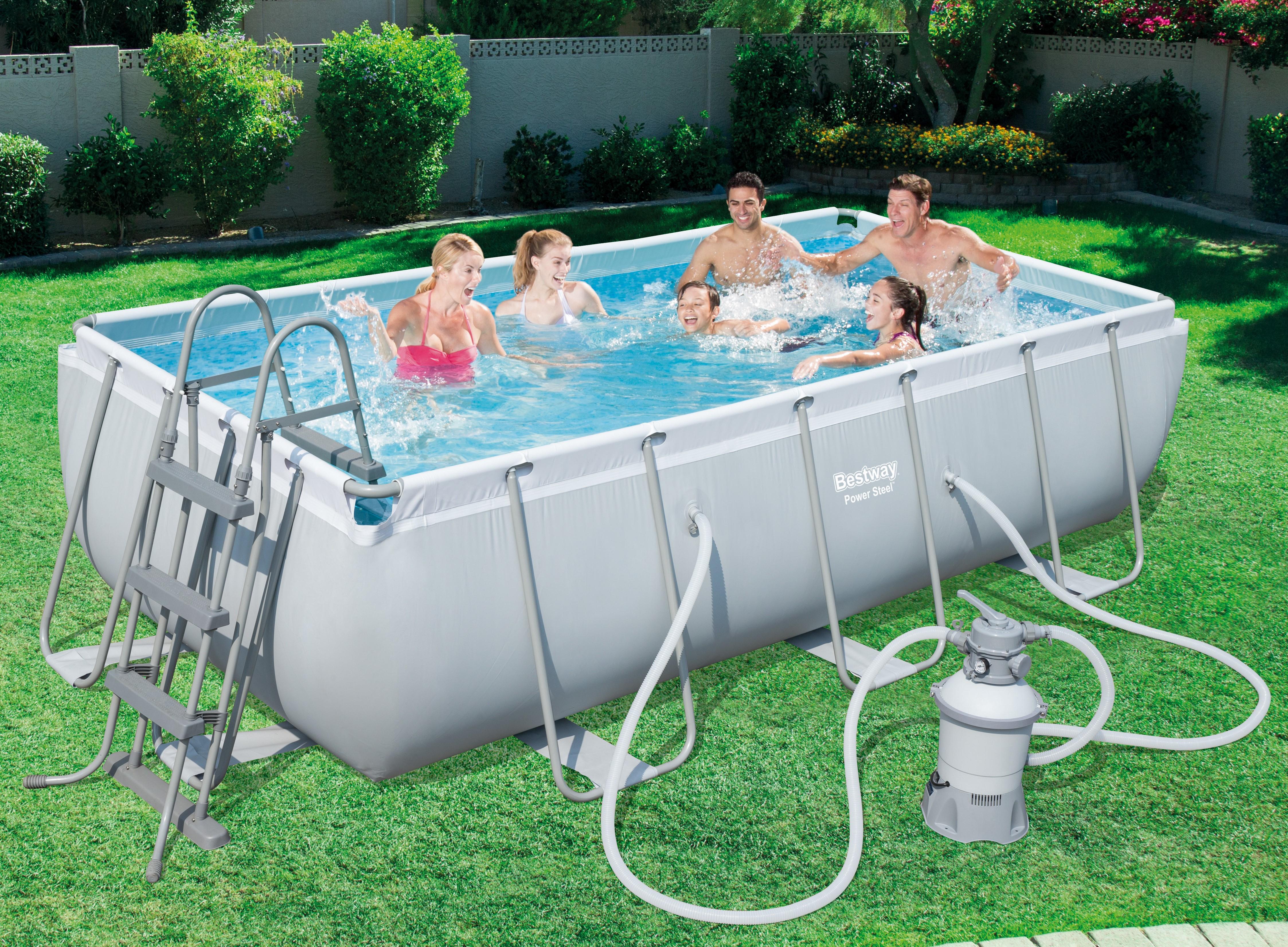 piscine tubulaire rectangulaire 404 x 201 x 100cm