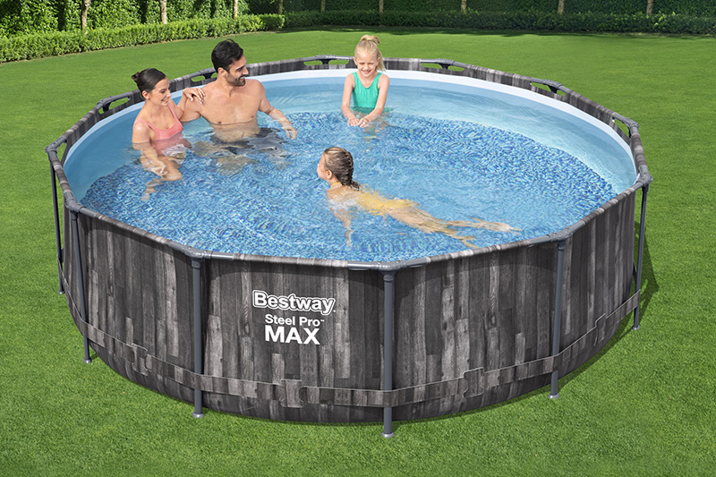 piscine steel pro max aspect bois vieilli 3.66 x 1.00m