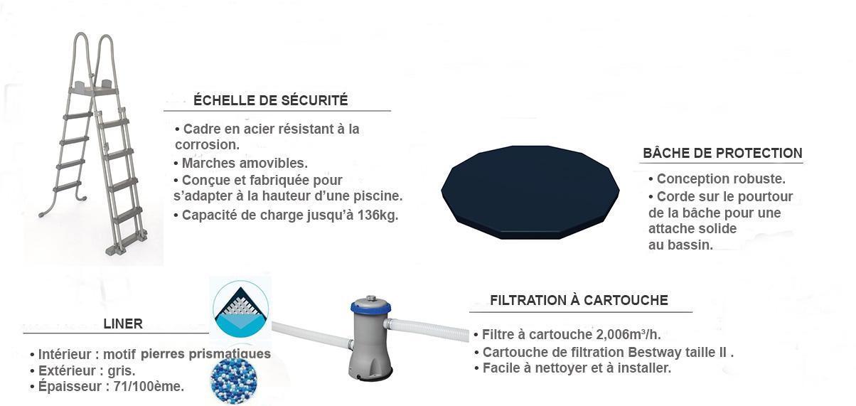 équipements pour piscine power steel pro ronde bestway 3,66 x 1,22m