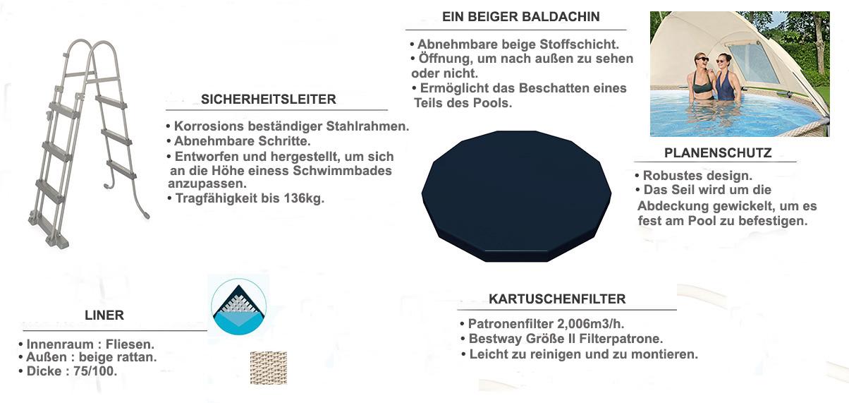 ausstattung enthalten pool 3.96 x 1.07m rattan beige