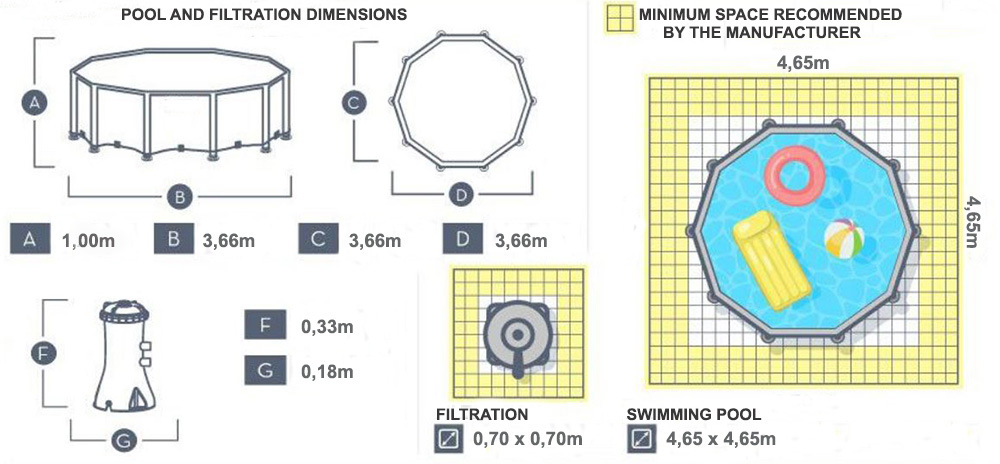 piscine steel pro max 3,66 x 1,00m