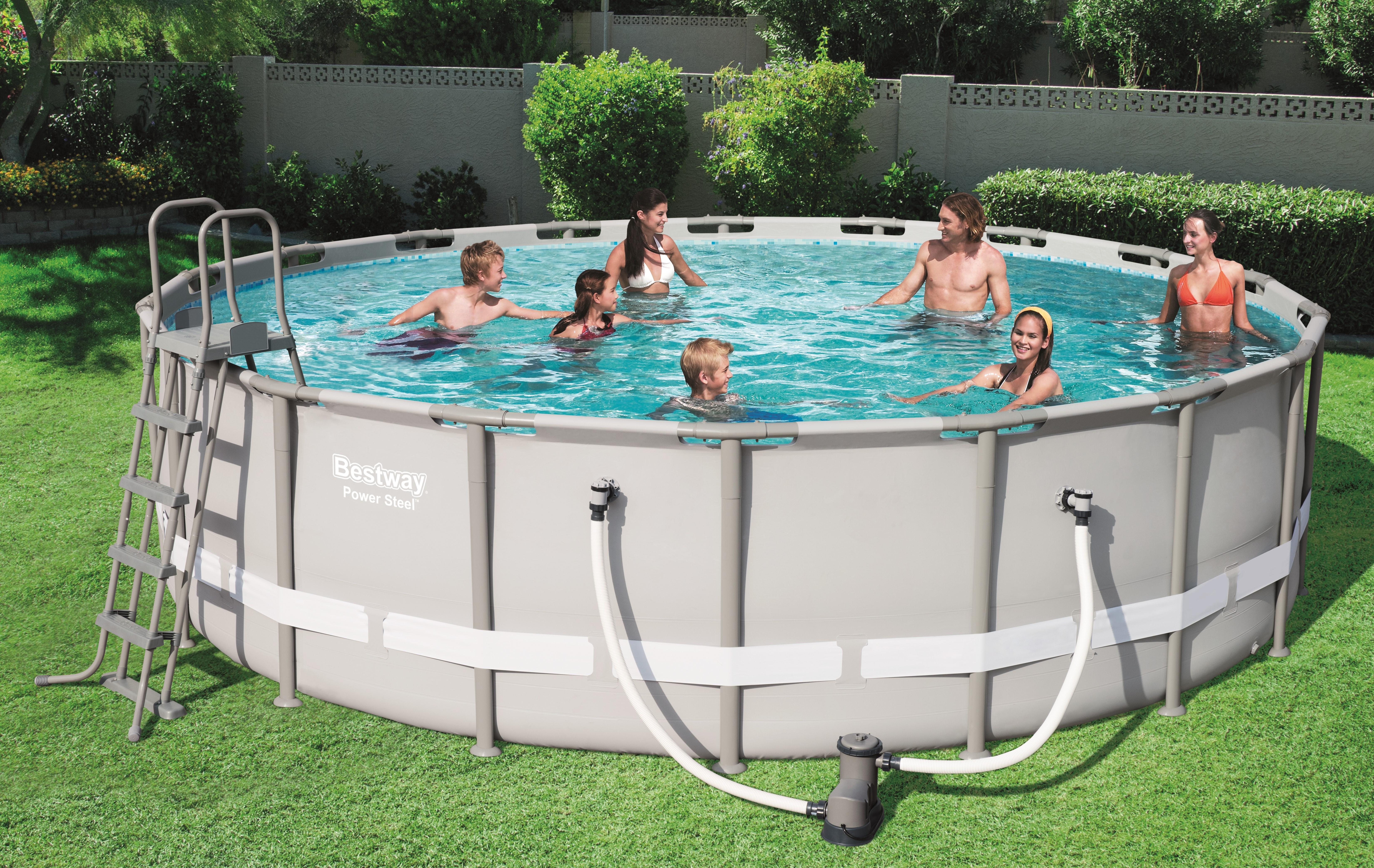 Bestway Power Steel Tubular Pool 5 49 X 1 32m C Piscine
