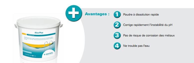 avantages, alcaplus, bayrol, ameliore l''efficacité de la floculation