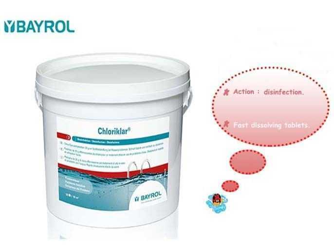 chloriklar, bayrol, disinfection