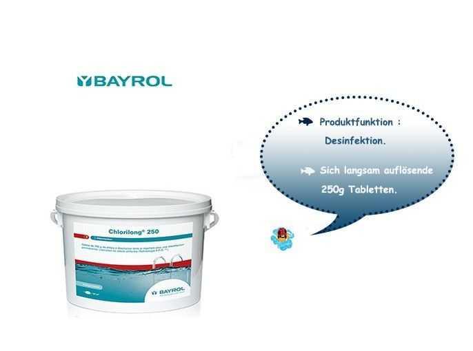 chlorilong 250, bayrol, sich langsam auflosende 250g tabletten