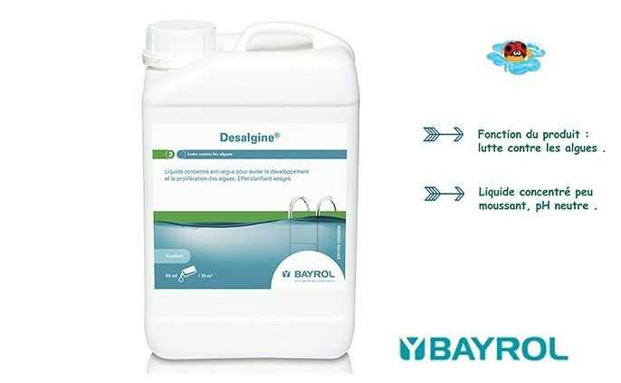 desalgine, bayrol, lutter contre les algues