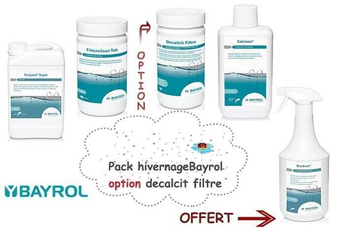 pack hivernage bayrol, option decalcit filtre, hivernage piscine