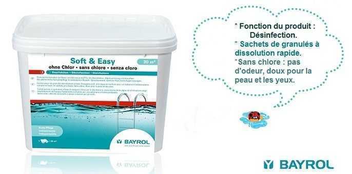 soft easy bayrol, traitement sans chlore, désinfection