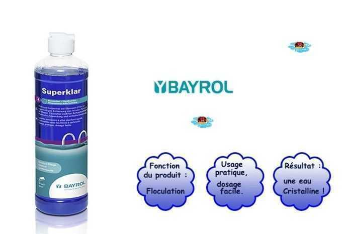 superklar, floculation, eau cristalline, bayrol