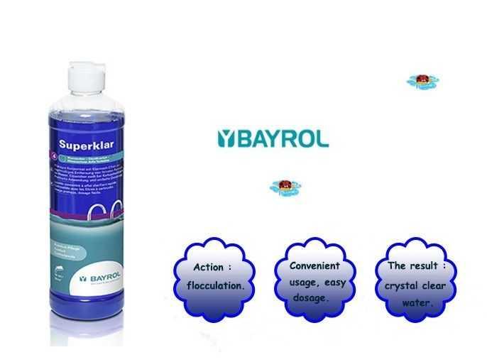 superklar, bayrol, flocculation