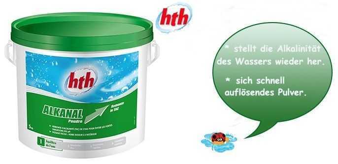 alkanal hth, alcalinité de l'eau