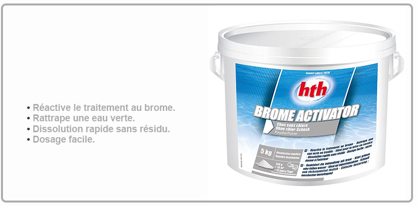Hth brome activator brome choc hth brome piscine for Piscine brome