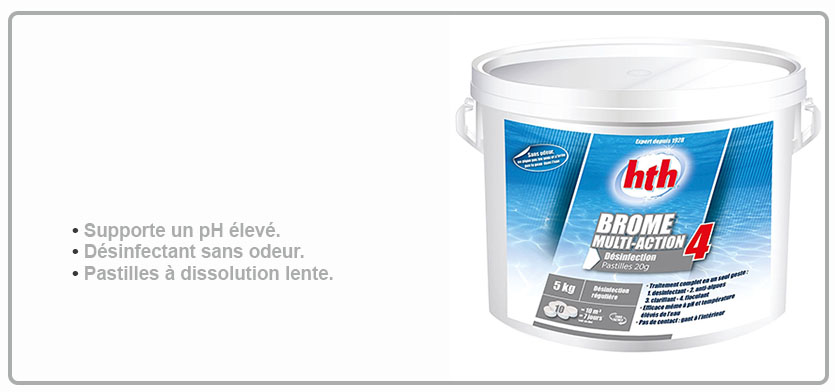 Hth brome action 4 hth brome piscine for Brome piscine