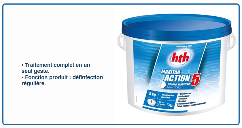maxitab 5 actions chlore lent hth