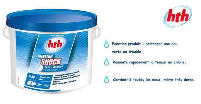 hth minitab shock chlore choc hth chlore piscine. Black Bedroom Furniture Sets. Home Design Ideas