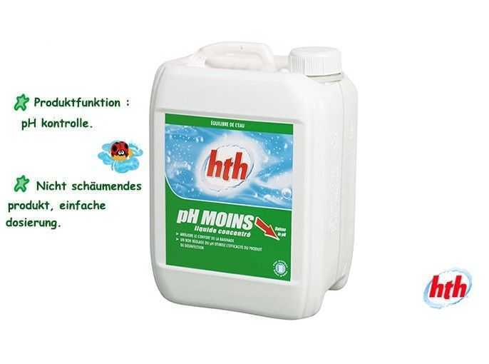ph minus liquide, hth, ph kontrolle