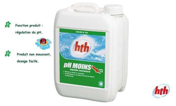 ph minus liquide, hth, regulation du ph,