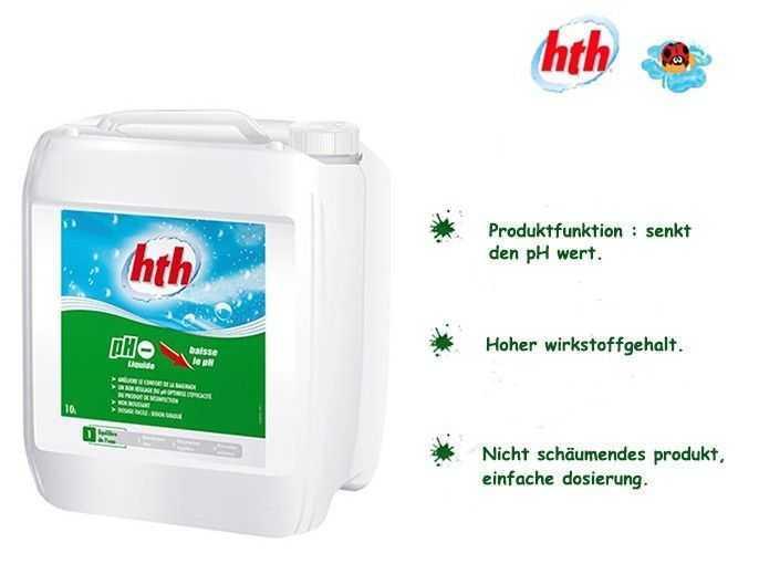 hoher wirkstoffgehalt, hth, ph minus liquide