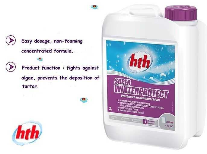easy dosage, non foamiong, concentrated formula, hth, winterprotect