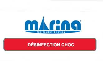 désinfection choc, logo marina