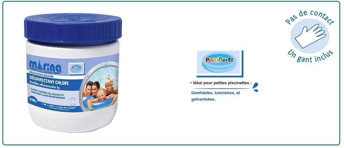 chlore pastilles effervescentes 5g pour petites piscines