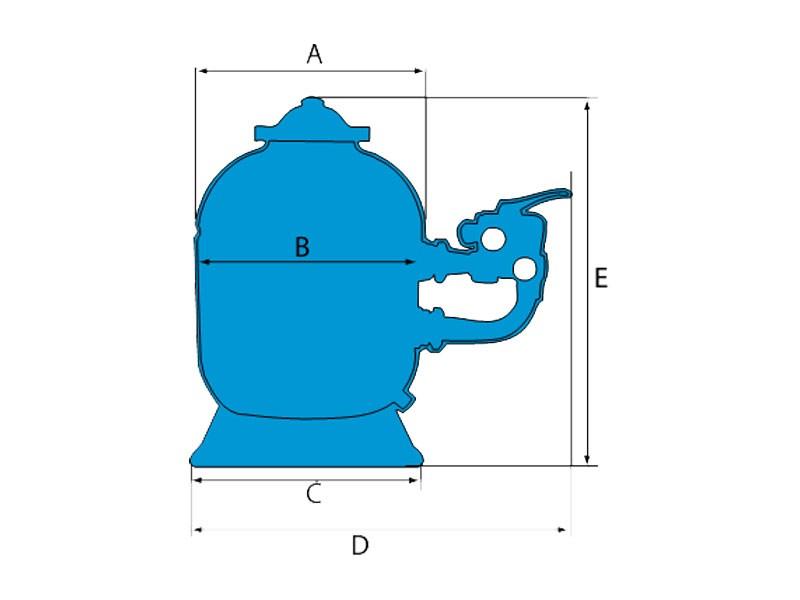 dimensions filtre à sable pro side hayward